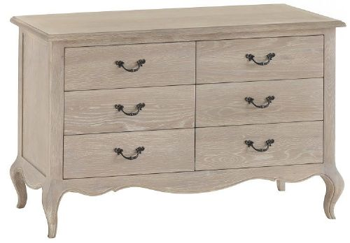 French Oak 6 Drawer Chest